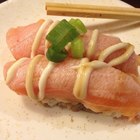 Sweet Soy Seared Salmon Nigiri