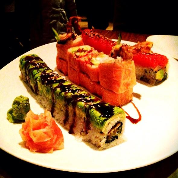 Dragonroll, Pink Sakura Maki, Red Dragon - Rise Sushi & Sake Lounge, Chicago, IL