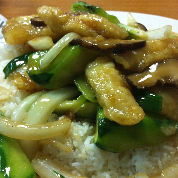 Filet Fish With Chinese Okra On Rice @ Tasty Place