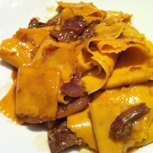 Papardelle With Pheasant & Morel Mushrooms @ Drago Centro