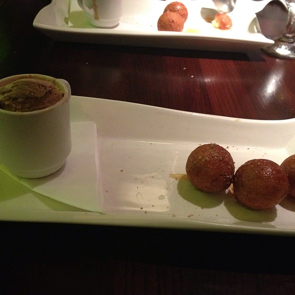 Goat Cheese Donuts With Coffee Ice Cream @ Salt