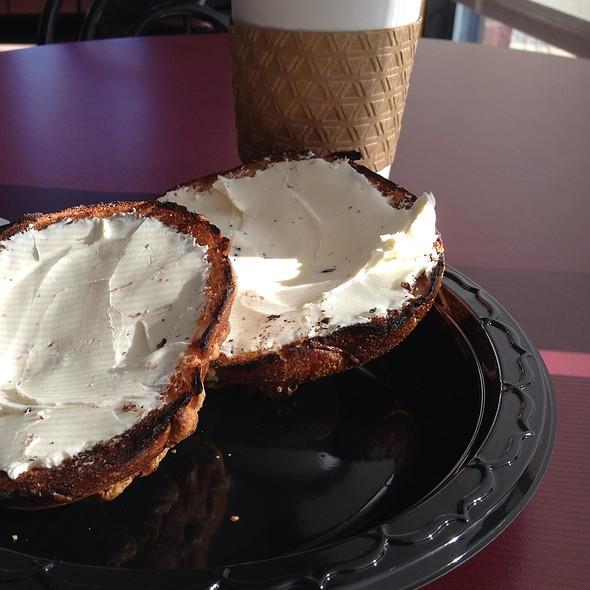 Asiago Cheese Bagel @ Waterways Coffee Shops