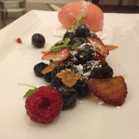 Rassberry Sorbet W/ Mixed Berries - Technique at Le Cordon Bleu – Pasadena, Pasadena, CA