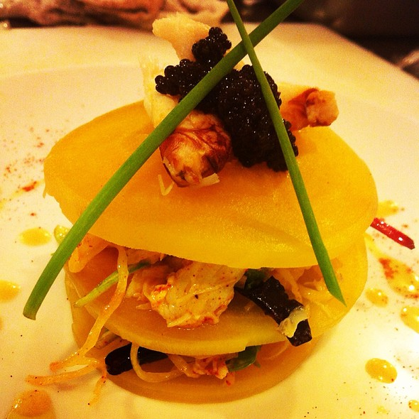 Napoleon Of Dungeness Crab, Ginger Dressing California Caviar @ Rue Saint Jacques Restaurant