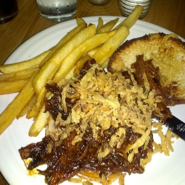 Pulled BBQ Pork Sandwich  @ Square One Brewery & Distillery