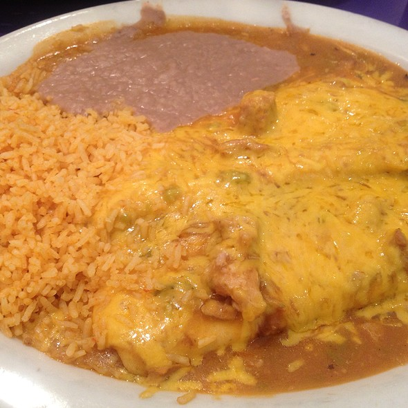 Two Smothered Burritos With Beans An Rice @ La Frontera