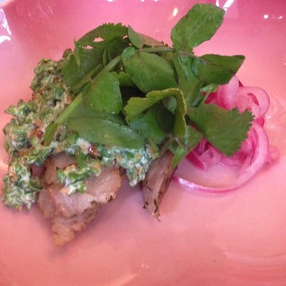 Pork, Pickled Onion, Taiwanese Green Veggie Something @ 屋頂上的貓‧私廚