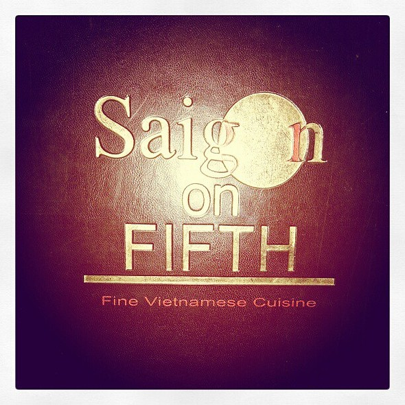 Super late din-din! @ Saigon On Fifth