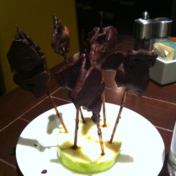 Chocolate-dipped Bacon Lollilops @ Farmers & FIshers
