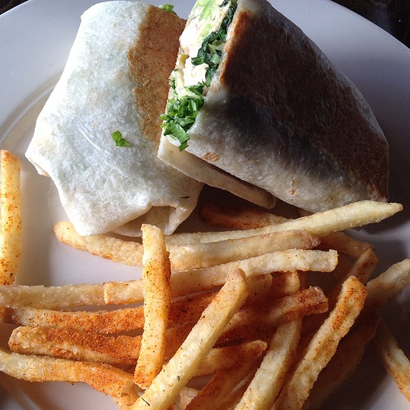 Caesar Salad Wrap With Basque Fries