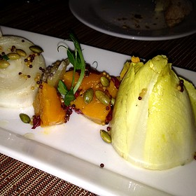 Belgian Endive, Roasted Sugar Pumpkin, Pickled Mustard Seed