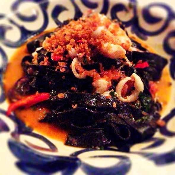Squid Ink Pasta With Calamari, Grilled Octopus, Shrimp @ Double Zero Napoletana