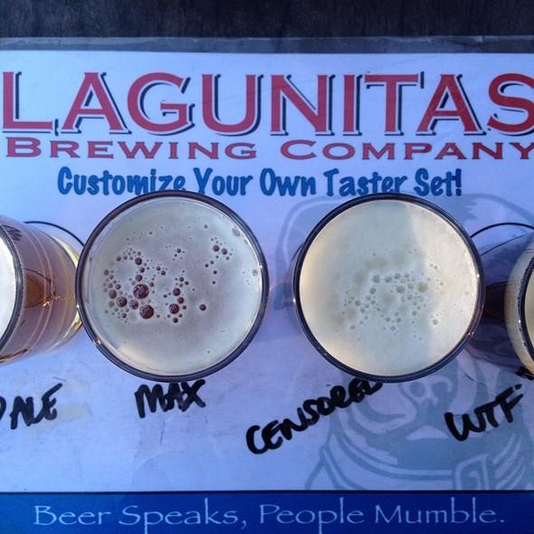 Beer Sampler @ Lagunitas TapRoom