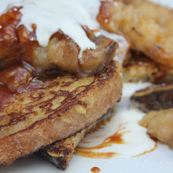 Bananas Foster French Toast @ Cheeky's
