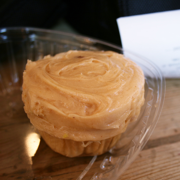 Peanut butter and jelly cupcake @ Belly General Store