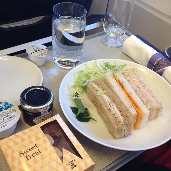 british airways business class english tea time foodspotting. Black Bedroom Furniture Sets. Home Design Ideas