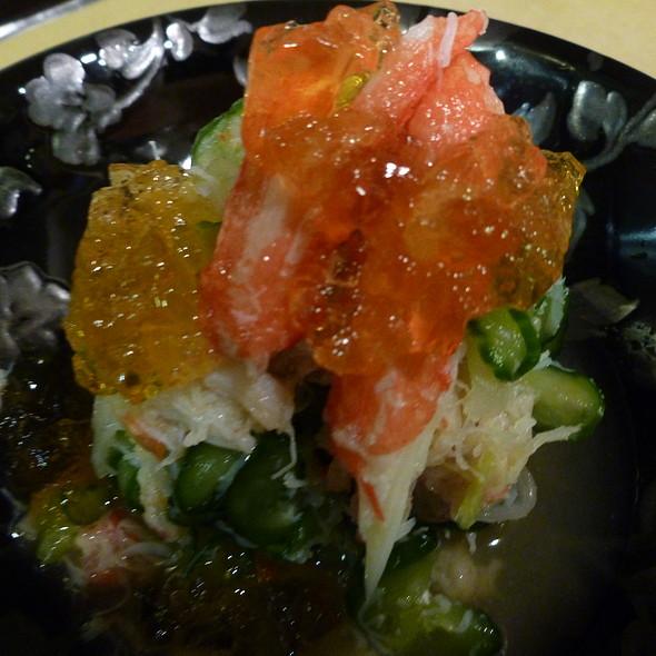Crab & Cucumber Vinaigrette - Katsuno, Forest Hills, NY