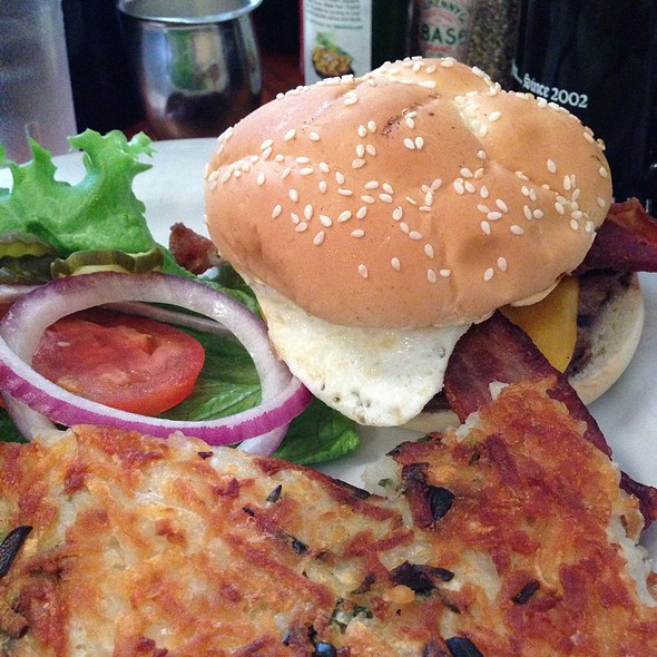 Breakfast Burger @ Rudy's Can't Fail Cafe