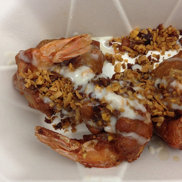 Bacon Walnut Shrimp @ Elevasian Food Truck