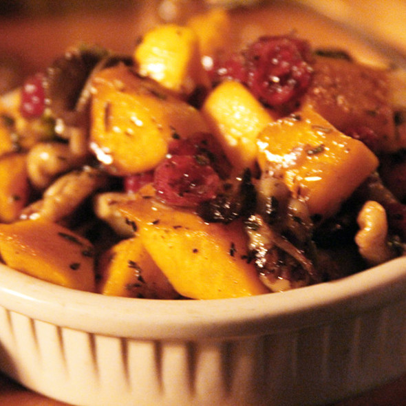 Squash and  root vegetables with pecans @ The Bitter Bar