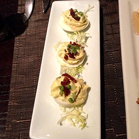 Deviled Eggs With Crispy Proscuitto