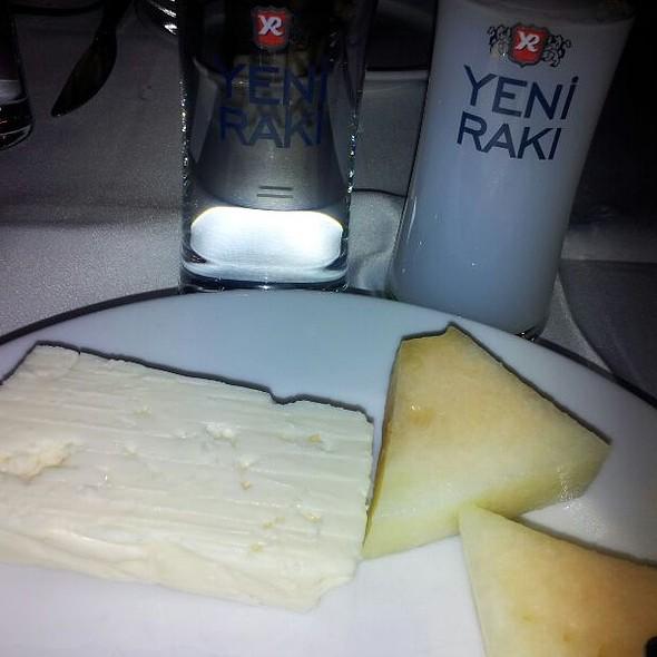Cheese, melon & Raki