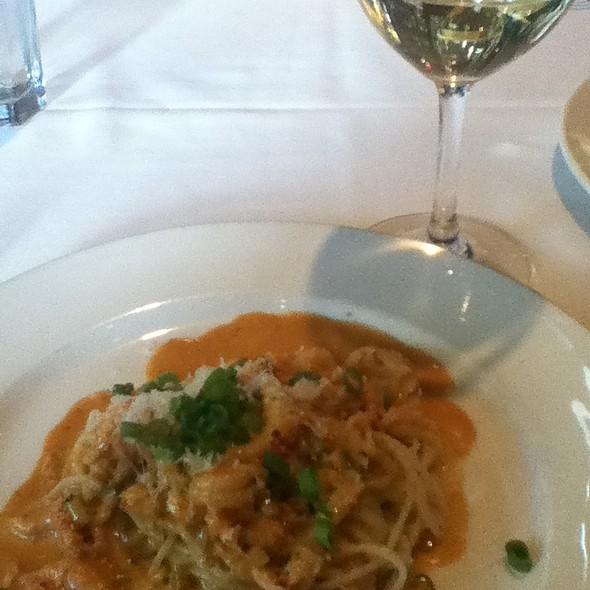 Angel hair pasta with crawfish and creole sauce - Emeril's Restaurant, New Orleans, LA