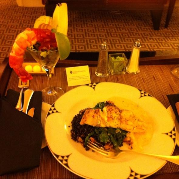 Colossal Shrimp with Grouper - ARA restaurant at Royal Sonesta Hotel Houston, Houston, TX