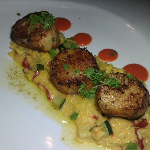 Valentine's Day Prefix Menu Scallops With Risotto  - Andrei's Conscious Cuisine & Cocktails, Irvine, CA