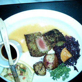 Pan Seared And Encrusted Tuna