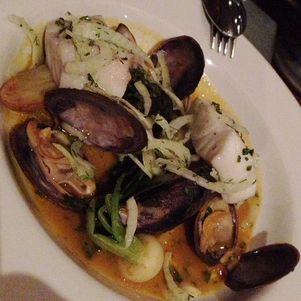 Bouillabaisse Of California Halibut, Savoury Clams And Marin Mussels With Fingerling Potatoes And Shaved Fennel