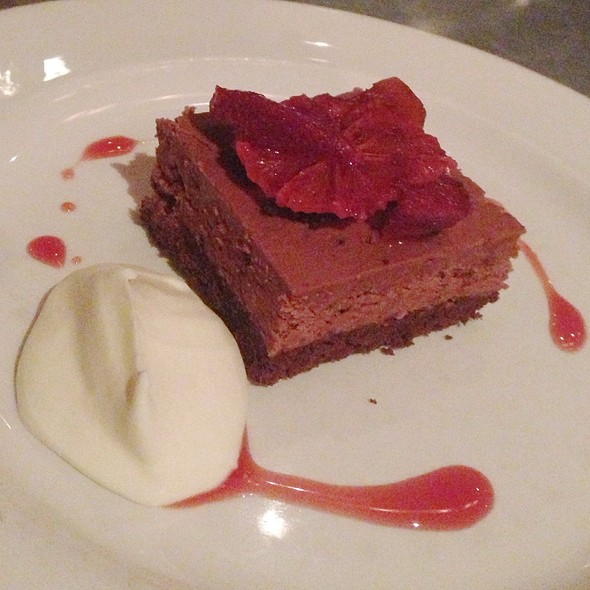 Milk Chocolate Mousse Cake With Blood Oranges And White Chocolate Cream