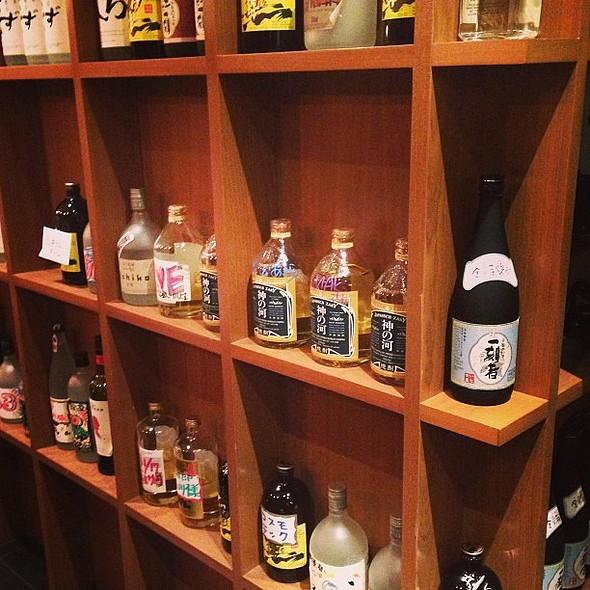 Sake wall.
