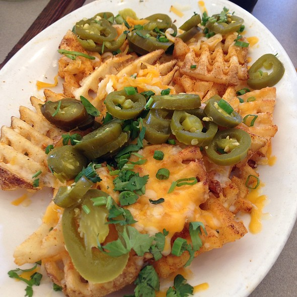 Cheese Waffle Fries @ Plucker's Wing Bar