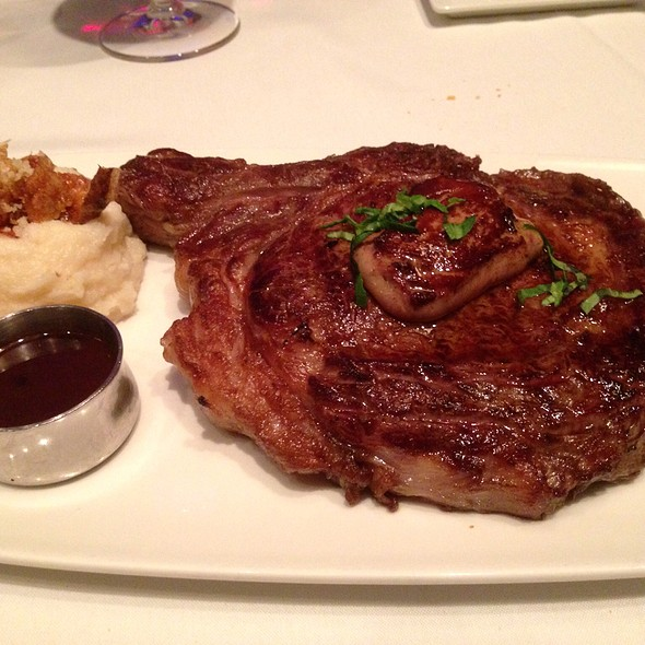 Bone-in Ribeye with Seared Foie Gras - Dream Dance Steak at Potawatomi Bingo Casino, Milwaukee, WI