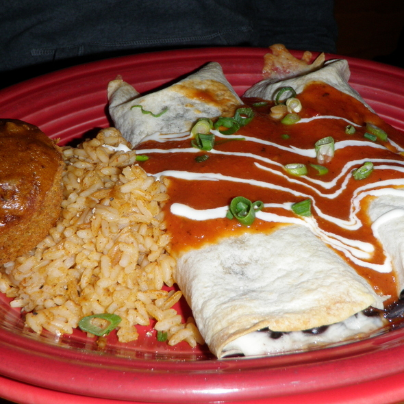 Spinach and Mushroom Enchiladas at Continental Divide The