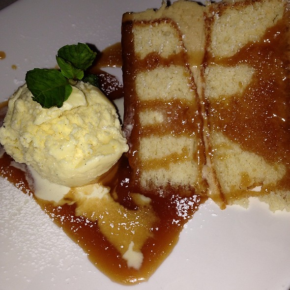 Caramel Cake and Toffee Ice Cream - Lilly's Bistro, Louisville, KY