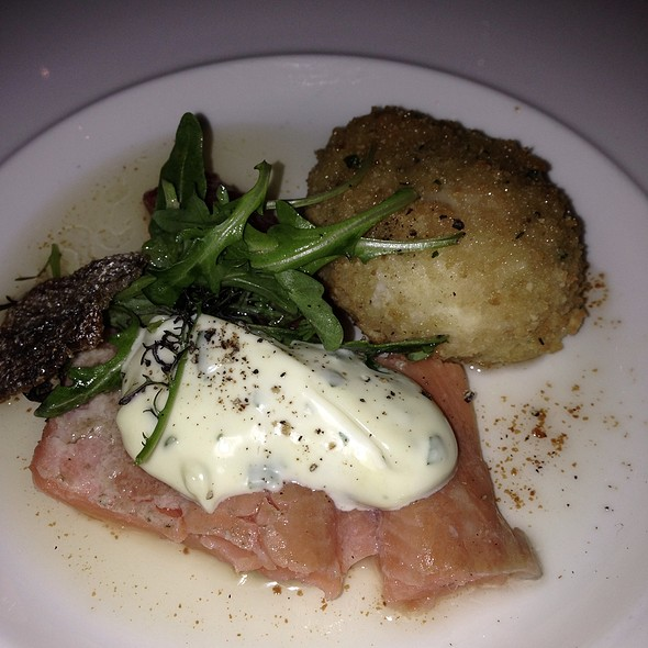 Trout With Scotch Egg @ Beano's Cabin