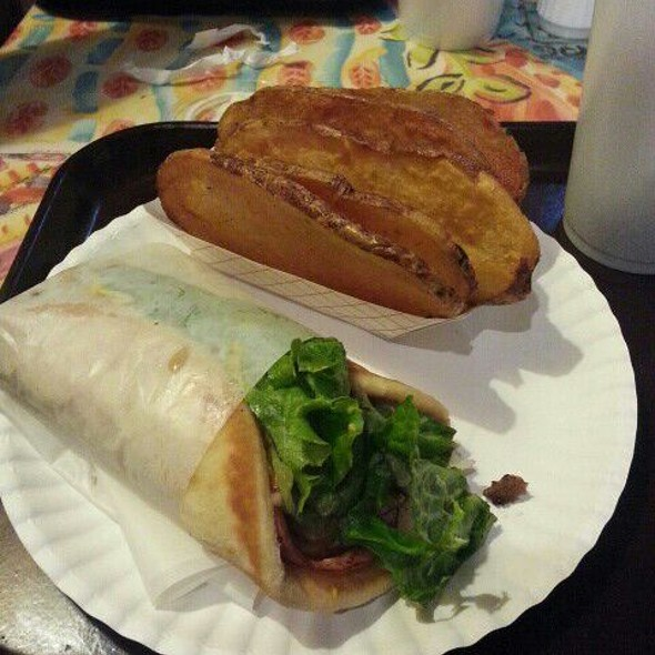 Ham And Cheese Pita Wrap with Cottage Fries @ Keifer's Restaurant