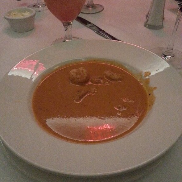 Roasted Pepper, Goat Cheese And Shrimp Bisque @ Dickie Brennan's Steakhouse