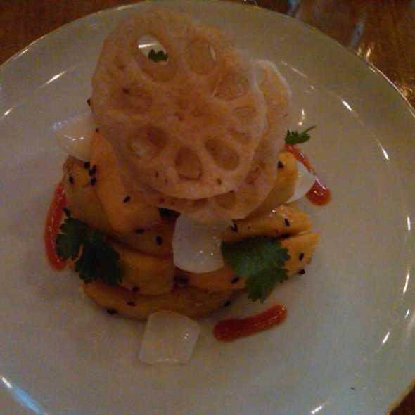 apple, lotus & lily bulb salad @ Double Crown