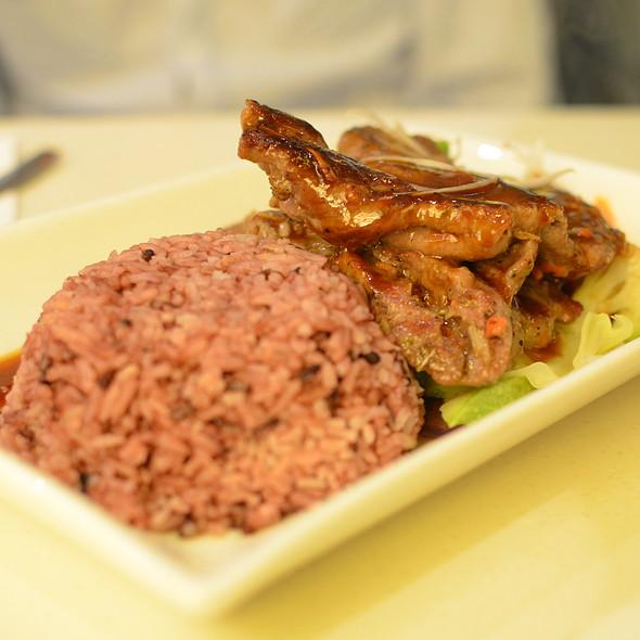 Lamb with Brown Rice @ Fruit Stop Health Food Restaurant - Causeway Bay
