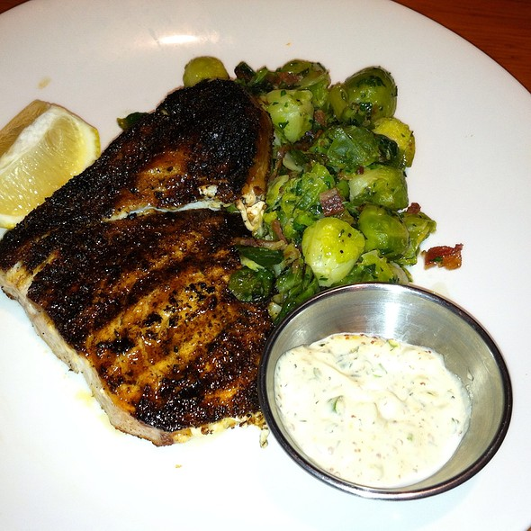 Blackened Swordfish And Brussels Sprouts With Bacon - Table 24, Rutland, VT