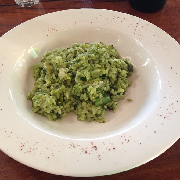 Pea, Asparagus And Courgette Risotto @ Tom's Kitchen