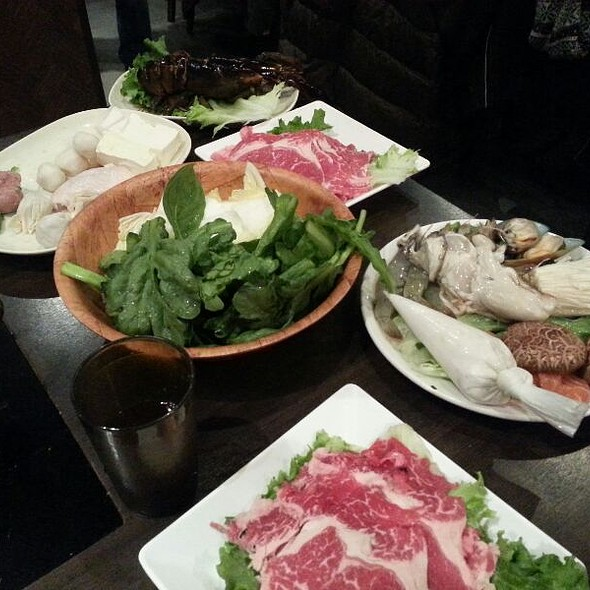 Beef, lamb, veggies and seafood @ Hipot Hot Pot Restaurant