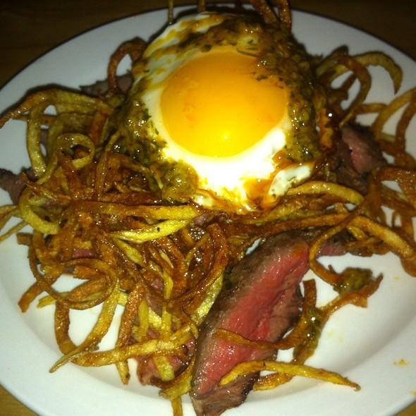 Steak Frites With Fried Pee Wee Egg - Torito Tapas, Toronto, ON