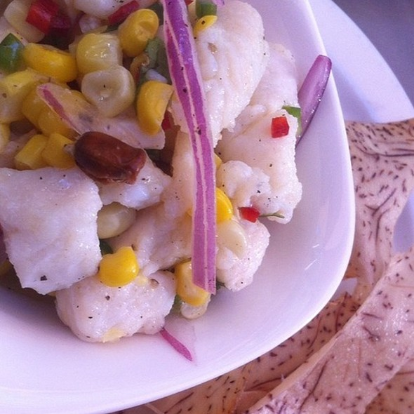 White bass ceviche with corn & yam - Torito Tapas, Toronto, ON