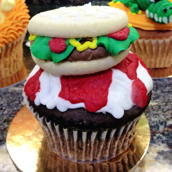 Chocolate Cupcake With Burger On Top
