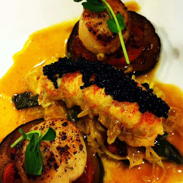 Roasted Maine Lobster Tail, Seared Day Boat Scallops