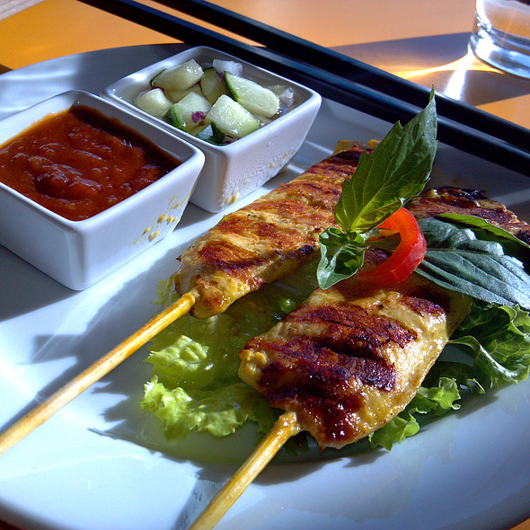 Curry Chicken Satay @ Thai Flavors